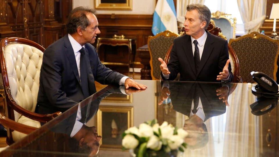 Macri recibió a Scioli en la Rosada