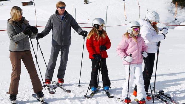 La familia real de Holanda, en la nieve