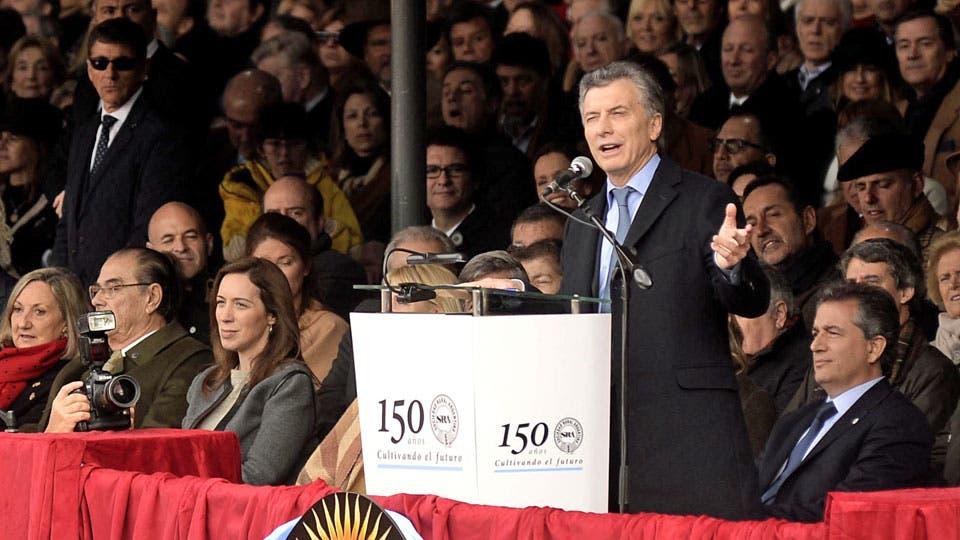 Macri habló durante 20 minutos en La Rural foto: DyN