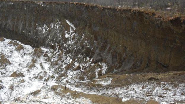 El ritmo de crecimiento del cráter es un indicador directo del creciente impacto del cambio climático en el permafrost