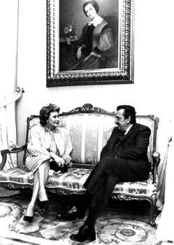 Reunida con Raúl Alfonsín. Foto: Gentileza Clarín