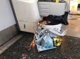 Un artefacto sospechoso en llamas tras la explosión en el metro de Londres