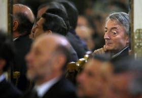 El ex presidente, en el Salón Blanco