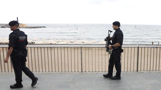 Barcelona, el día después del ataque, con alta seguridad