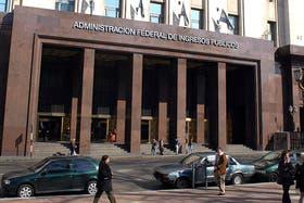 Edificio de la AFIP en la city porteña