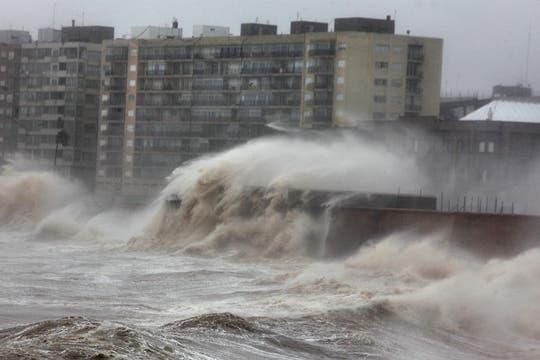 Una violenta tormenta azota el sur de Uruguay provocando graves destrozos. Foto: EFE