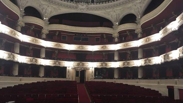 El teatro desierto, muchas horas antes del show. Foto: LA NACION