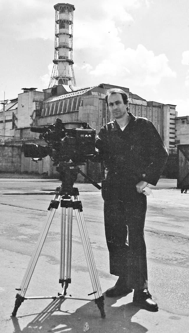Kasanzew en la planta nuclear de Chernobyl