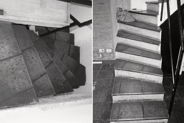 a escalera de material ocupaba mucho lugar e interrumpía la circulación, sobre todo en la planta baja. Con varios escalones angostos y de diferentes alturas era, además, incómoda y peligrosa. .