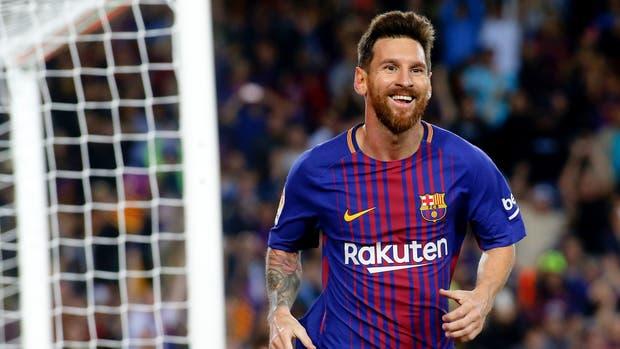 El festejo de Messi