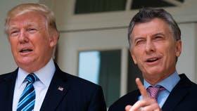 Donald Trump y Mauricio Macri, durante el encuentro en la Casa Blanca