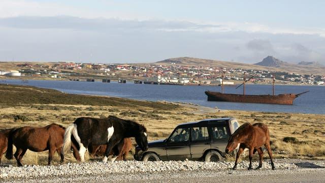 Una foto de archivo de las Malvinas