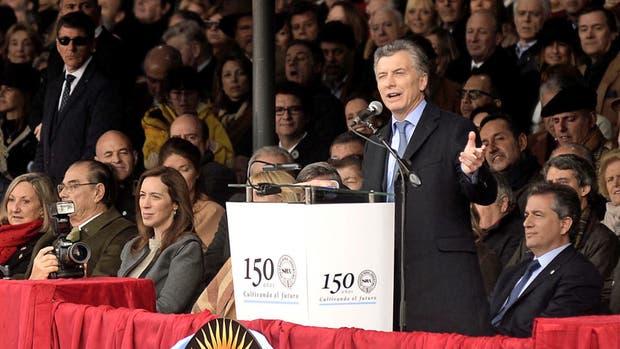 Mauricio Macri, durante su discurso en la inauguración de la exposición de la sociedad rural