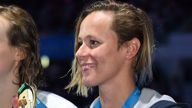 Federica Pellegrini y su medalla dorada