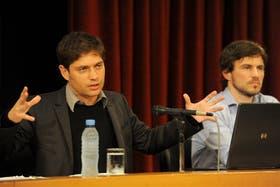 Axel Kicillof y Augusto Costa, ayer en el Ministerio de Economía