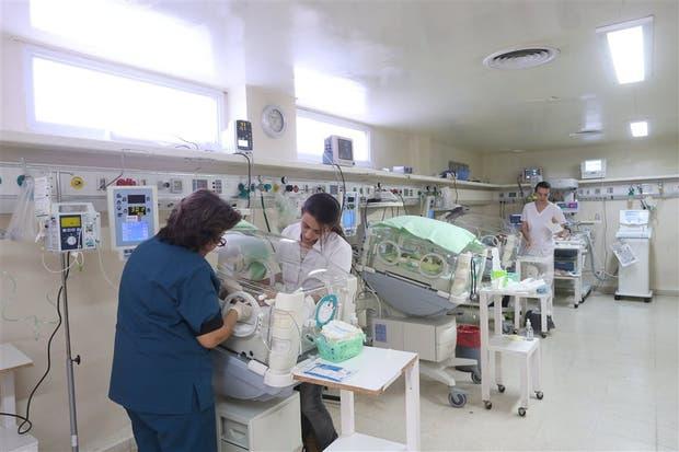 Una médica y una residente trabajan juntas en la sala de neonatología del hospital Misericordia, de Córdoba