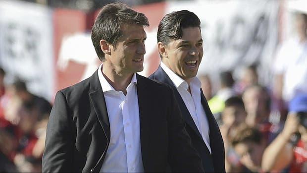 Barros Schelotto y Gallardo, en el último cruce en Núñez