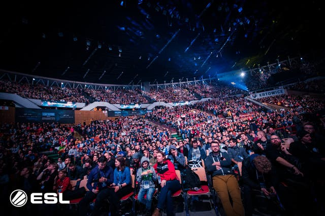El público en el Spodek Arena para ver el torneo Intel Extreme Masters