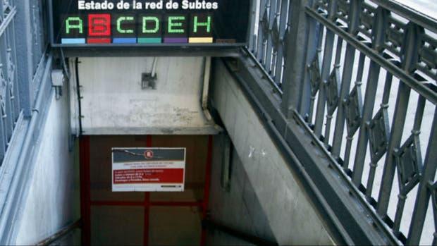 La línea B funciona con servicio limitado