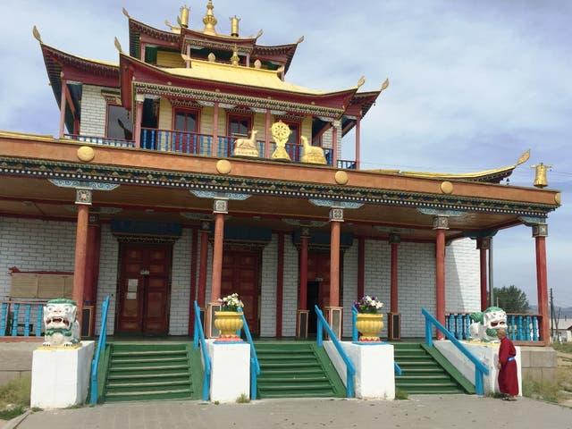 Uno de los templos de la Datsan Ivolginsky, en Ulan-Ude