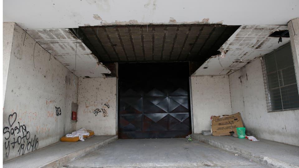 La entrada del galpón donde funcionará la escuela. Foto: LA NACION / Fabián Marelli