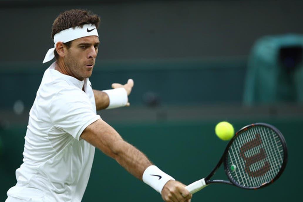 Deportes: Del Potro derrotó a Gojowczyk en su debut en Wimbledon