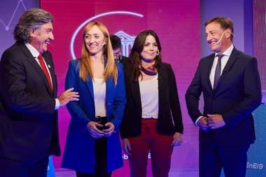 Los cuatros candidatos a la Gobernación expusieron sus propuestas y se defendieron tras las preguntas cruzadas durante el debate en Canal 9 Televida.