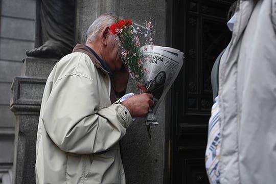 El homenaje de sus seguidores. Foto: LA NACION / Mariana Araujo