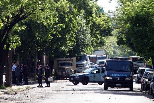 Lugar donde se produjeron los enfrentamientos entre ferroviarios. Foto: LA NACION / Fabián Marelli