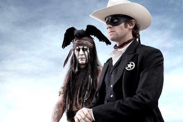 Johnny Depp y Armie Hammer, lookeados como se los verá en la película