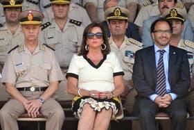 La ministra de Seguridad, Nilda Garré, encabezó la ceremonia de egreso conjunto de las fuerzas federales de seguridad