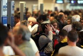 Las demoras y las cancelaciones en Aeroparque el pasado 10 de julio