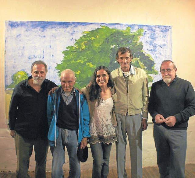 Una exposición de arte en Corral de Piedra, en Cura Malal, Buenos Aires
