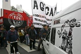 Los manifestantes pidieron trabajo digno