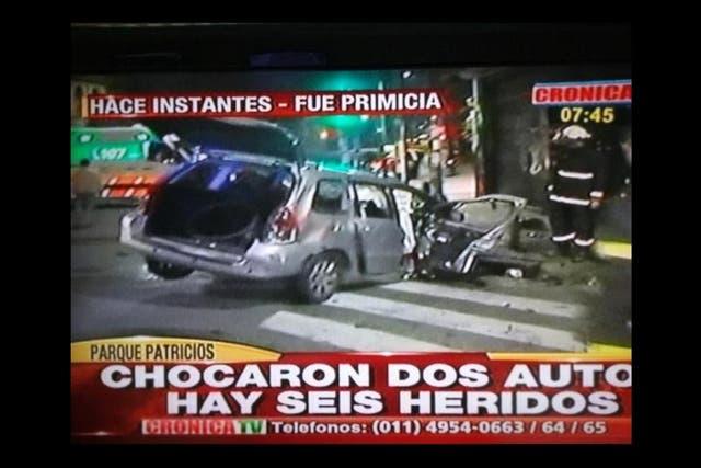 Uno de los autos que protagonizó el choque