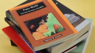 Un libro en 1 minuto: Una letra femenina azul pálido