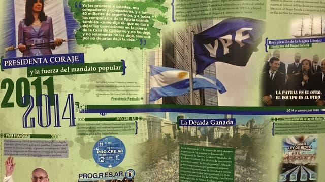 El último gobierno de Cristina, definido por menciones a la década ganada y las imágenes del Papa, de una bandera de YPF y de la Plaza de Mayo colmada