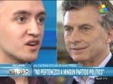 El joven que amenazó a Macri pide disculpas
