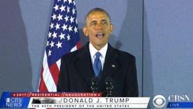 Obama durante su primer discurso tras abandonar el poder