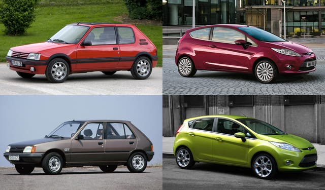 Ayer, los clásicos como el Peugeot 205 tenían mejor porte con 3 puertas que con 5; Hoy, la ecuación es inversa, los modernos hatch como el Ford Fiesta lucen mejor con cinco puertas