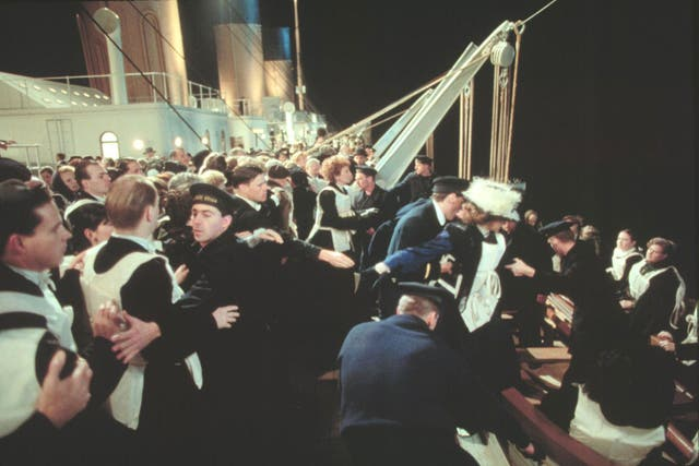 En la foto que la producción de Titanic envió a los medios, se veía claramente a Juan Ignacio Brown sosteniendo a la multitud.