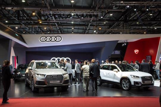 El stand de Audi en el Salón del Automóvil.