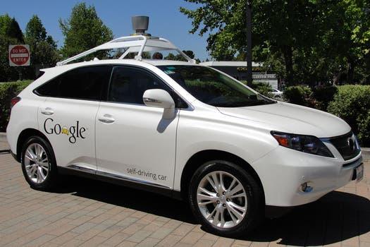 Una vista del vehículo autónomo de Google. Foto: AFP