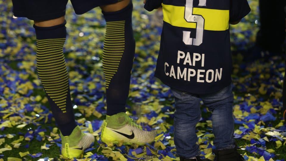 Las mejores imágenes de Boca campeón y la fiesta en la Bombonera. Foto: LA NACION / Daniel Jayo