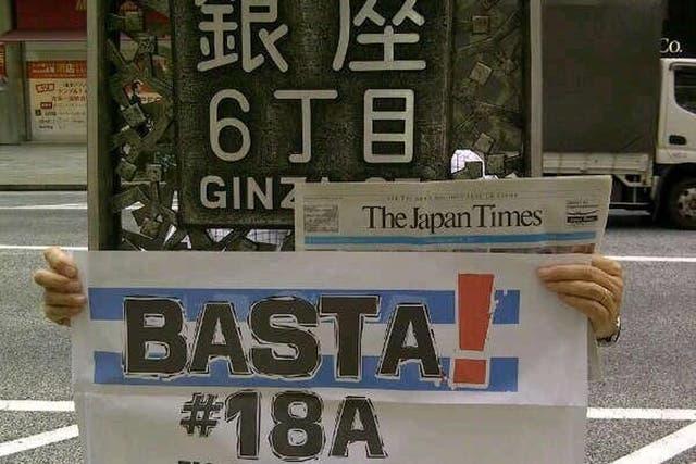 Japón fue uno de los primeros lugares en el que, por diferencia horaria, empezó el cacerolazo