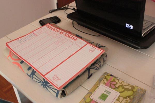 Un organizador para una semana colmada de trabajo.