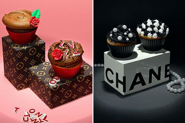 Seguimos con el lujo...cupcakes inspirados en Louis Vuitton y Chanel. Foto: Mundochica.com