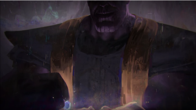 Ilustración de Thanos para Infinity War.