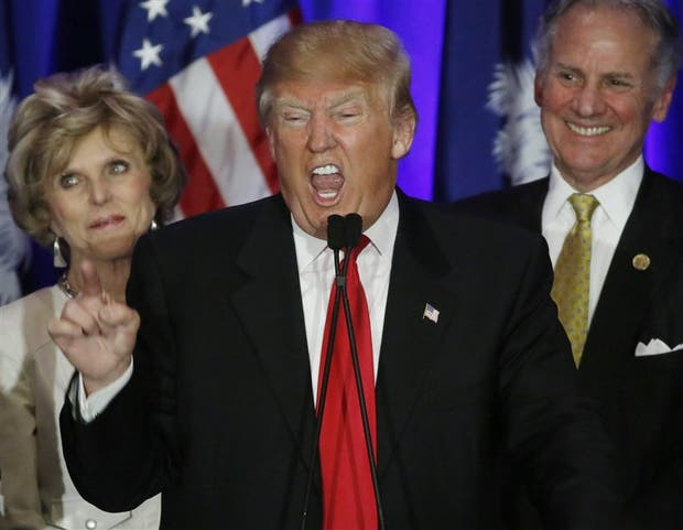 Exultante, Trump festejó anteanoche su impactante triunfo en Nevada, con respaldo del voto latino