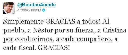 El candidato a vicepresidente de Cristina Kirchner y su agradecimiento en Twitter
